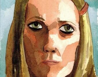 Margot Tenenbaum - Watercolor - Wes Anderson