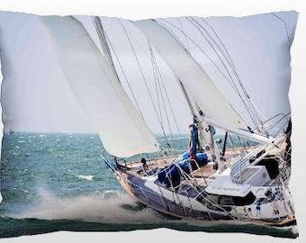Nautical Pillows, Costal Decor, Sailing Throw Pillows, 12x16 Photo, Sailing Decor, Living Room Accents, Bedroom Pillows, Home Interior Decor