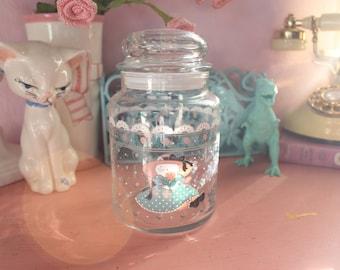 Vintage Lolita Kitten Jar