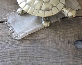 Vintage Small Brass Turtle Box