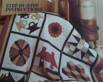 Teach Yourself to Quilt Step-by-Step Instructions - Leisure Arts - Quilt Making - Patchwork - Design by Patricia Eaton - Leaflet 1179