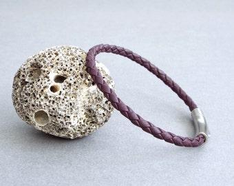 Mens Bracelet, Braided Leather Bracelet, Men's Leather Jewelry, Bracelet, Jewelry for Him