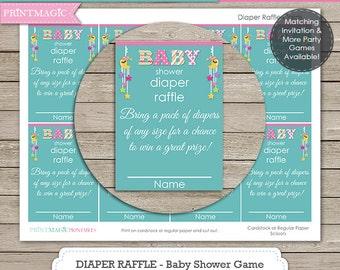 Moon & Stars Diaper Raffle Baby Shower Game - Instant Download - Diaper Raffle Game - Baby Shower Diaper Raffle - Baby Shower Activity