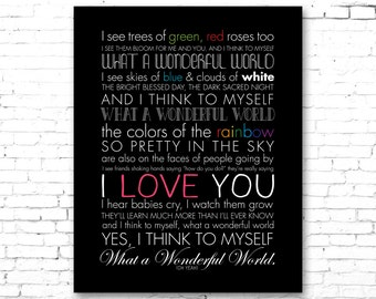 "LOUIS ARMSTRONG ""What a Wonderful World"" 