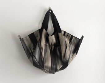 Womens Ikat Shoulder Bag by bakeappledesigns | Beach Bag | Shoulder bag | Tote | Handbag | Ikat | Upcycled | Fabric | Eco Friendly