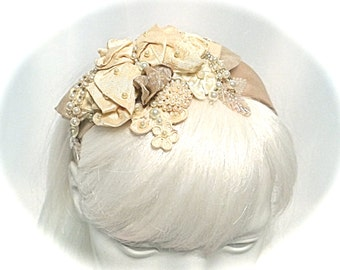 Taupe Bridal Headband Wedding Accessories Wedding Hairpieces B-108