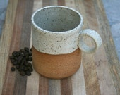 rustic handmade mug, tea mug, stoneware coffee cup, rustic pottery, stoneware cups, kitchen and home, minimalist pottery