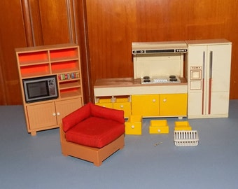 Tomy Miniature Doll House Pieces with HTF Flatware