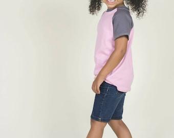 Handmade Shirt, Kids TShirt, Kids Clothes, Organic Clothes, Raglan, T Shirt, Handmade Clothes, Organic Clothing, Childrens Clothes