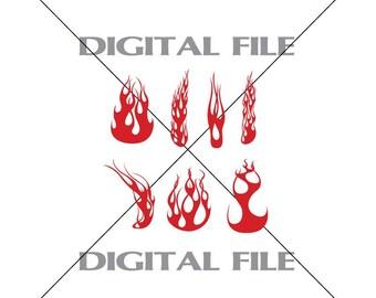 Flames Svg File Etsy
