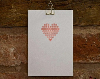 Letterpress heart card
