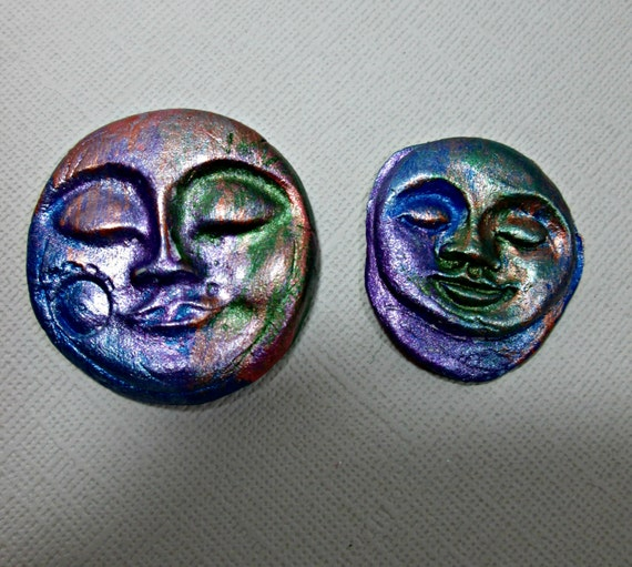 Basket Weaving Supplies Charleston Sc : Face cabochons set of two clay handmade supply one