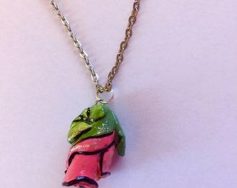 Cartoon-ish Rose necklace