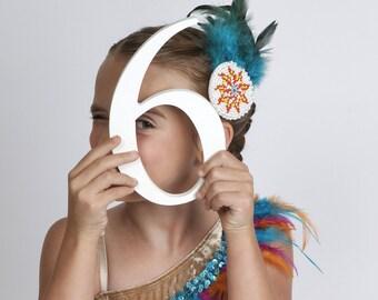 Feather Headband, Native American Headband, Tribal Headband, Boho Headband, Indian Headband, Braided Headband, Ballet Costume Adult Teen Kid