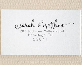 Personalized Custom Return Address Stamp - Great Wedding, Newlywed, Housewarming, New Home, Realtor Gift! Self inked, Pre-inked RE869