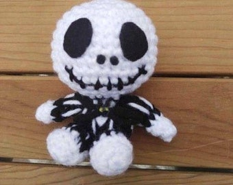 Crochet baby jack skellington - doll