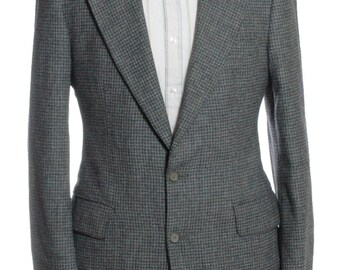 Vintage 1970's Mr Harry Grey Check Wool Suit 38 S- www.brickvintage.com