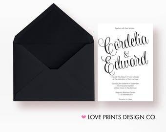 Whimsical Wedding Invitation, Wedding Invitation Suite, Printable Wedding Invitation, Wedding Invite Template, Wedding Invitation Set