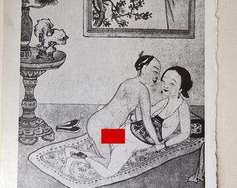 10 Chinese Erotic Art Illustrations Book Pages Scrapbook Coloring Art Supplies