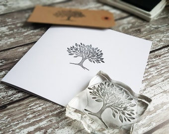 Tree Stamp rubber stamps 2""
