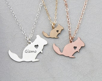 SALE • Chinchilla Necklace •Pendant Chinchilla Gift Personalize Pet Charm Chinchilla Jewelry Unique Pet Gift Cute Animal Necklace Pet Gift