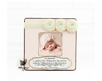 Godmother Gift Godfather Gift Godparents Gift Personalized Picture Frame Godchild Frame Personalized Gift Christening Gift Baptism Baby Boy