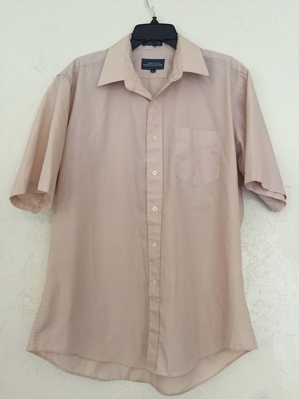 Vintage Men 39 S Short Sleeve Button Up Dress Shirts Vintage