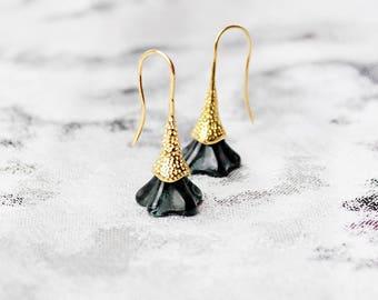 black earrings gold black jewelry bohemian earrings anniversary gift wife festival earrings fashion earrings mini earrings lawyer gift пя9