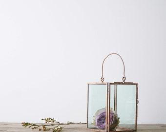 Medium Copper Candle Holder // Copper Lantern // Medium Lantern Copper // Copper Wedding Decor // Wedding Lantern // Table Decor Copper