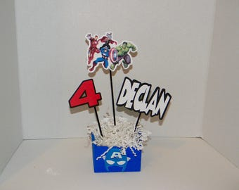 Avengers Centerpieces . Avengers Birthday Party Decorations.