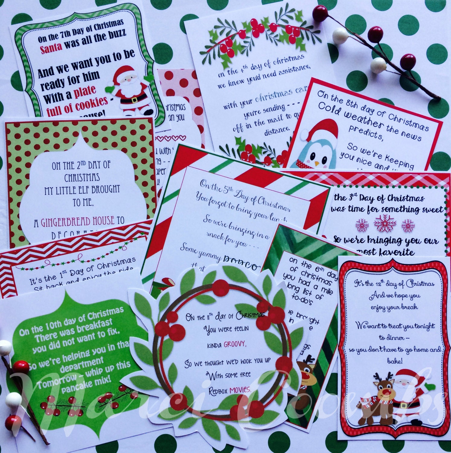 Gift Ideas For The 12 Days Of Christmas: 12 Days Of Christmas Printable Tags Labels For Teachers