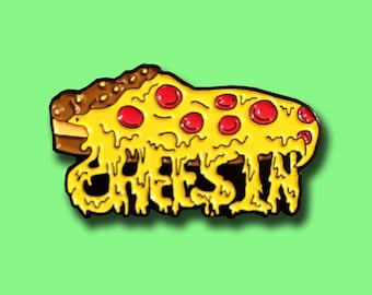 "Pizza Pin ""Cheesin"" Hat Lapel Food Rave EDM Festival Snapback"