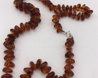 Vintage Authentic Baltic Amber Beaded Necklace