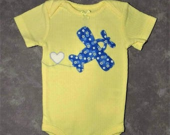 Airplane bodysuit baby girl - different ones to choose from - Ready to mail
