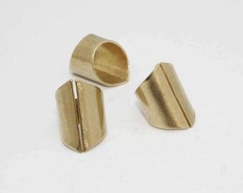 Raw Brass Ring Settings, Adjustable Ring, Ring Blank ,