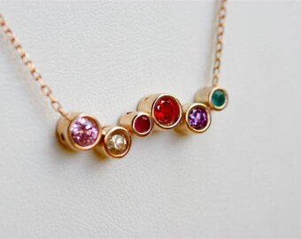 Grandma Birthstone Necklace, Grandmother Necklace, Family Birthstone Necklace, Grandma Necklace, Gifts For Grandma, Nana Necklace, Nana Gift