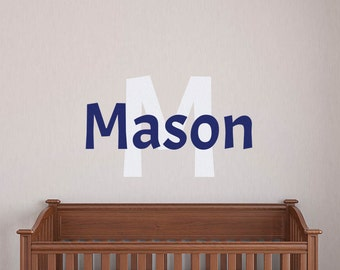 Personalized Name Decal, Nursery Name Sticker, Boys Name Decal, Name Wall Decal, Baby Name Sticker, Nursery Name Decal, Custom Name Decal