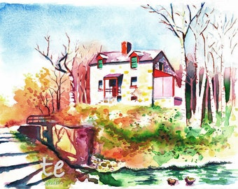 "Fine Art Print, ""Lock House No. 9"""