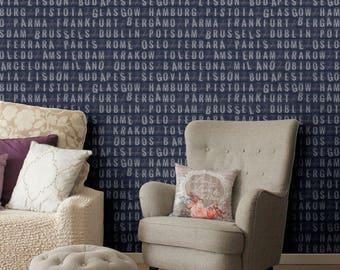 Destinations vinyl wallpaper, self-adhesive, temporary, removable nursery mb090