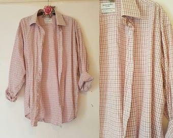 Vintage Pink Check YSL Shirt