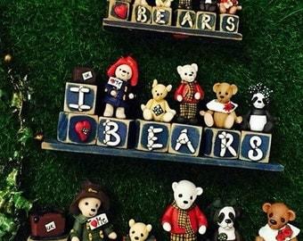 I love bears on wooden blocks