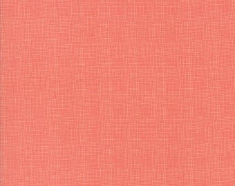 Lulu Lane Woven look fabric in Peach by Corey Yoder for Moda Fabrics #29027-14