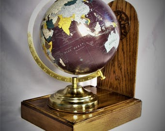 Beautiful World Globe On Display Base.