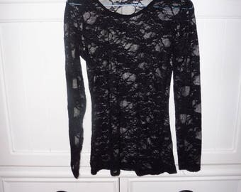 Top in lace size 38 en - 1980s