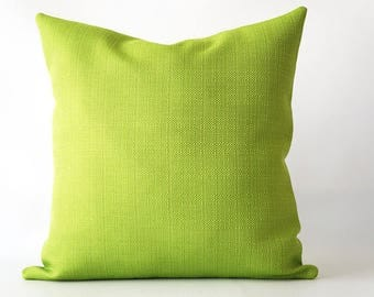 20x20Green Linen Textured Pillow Cover, throw pillow cover, green pillow cover, green decorative pillow, decorative pillow cover green linen