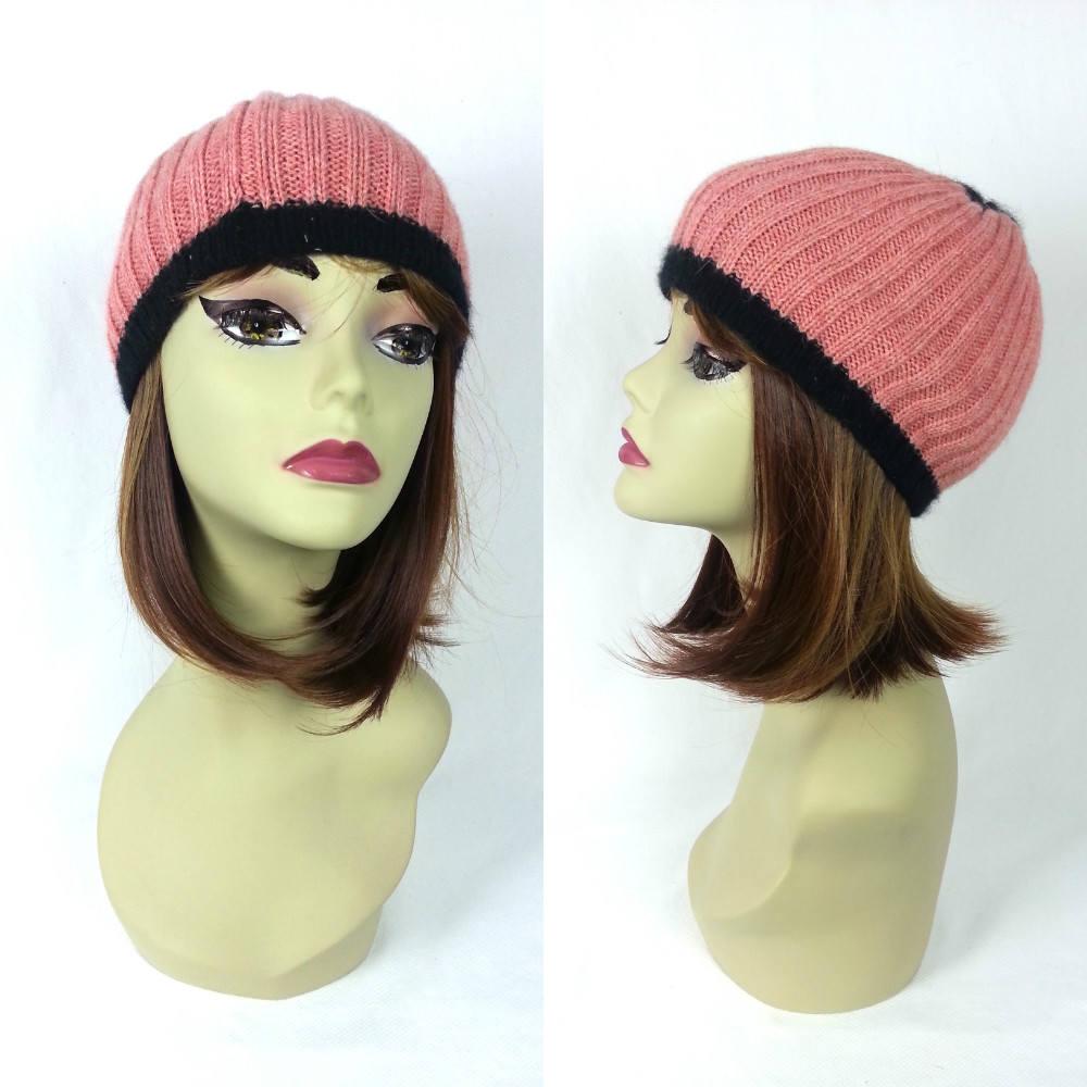 6fa7018c8e618 90 s Beanie Grunge Hat   ski cap winter hat men s women s unisex pink and  black beanie