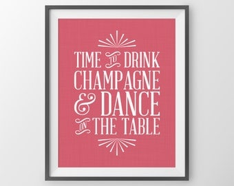 Bridal Shower Decor Bachelorette Party Decoration Bachelorette Sign Bridal Shower Gifts Wedding Decoration Champagne Dance On The Table