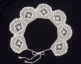 Crochet collar Peter Pan white collar crochet handmade NEW lace present gift for her for woman for child school in UK