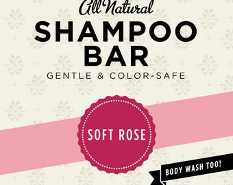 Soft Rose Organic Shampoo Bar