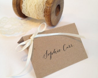 Rustic Place Cards, Name Cards, Place Setting, Wedding Place cards, Place Names, Party Place Cards